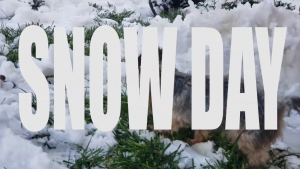 snow day sign
